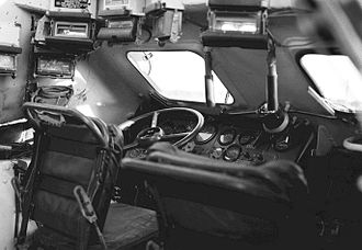 BTR-60 - The driver's station.