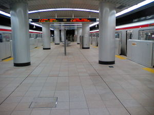 Tsukuba Express - Platform level of Tsukuba Station