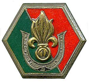 Saharan Companies of the French Foreign Legion - Image: Insigne 1re Cie Saharienne Portée de la Légion
