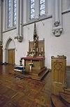 interieur, abdijkerk, overzicht altaar - berkel-enschot - 20001236 - rce