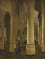 Interior of Nieuwe Kerk in Delft with the Tomb of William I (Gerard Houckgeest) - Nationalmuseum - 17467.tif