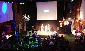International Cycling Film Festival - On stage interview with movie makers at the 7th ICFF 2012