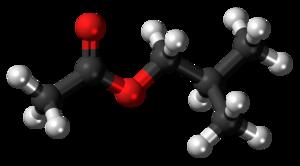 Isobutyl acetate - Image: Isobutyl acetate 3D ball