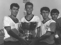 Israel soccer team holding Asian cup 1964a.jpg