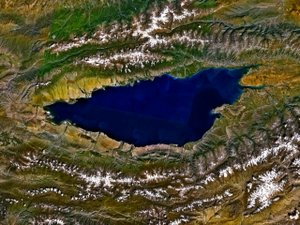 Issyk-Kul - From space, September 1992