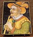 Italia centrale, mattonella con suonatore di fluato, 1635.JPG
