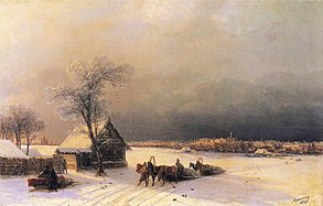 Ivan Constantinovich Aivazovsky - Moscow in Winter from the Sparrow Hills
