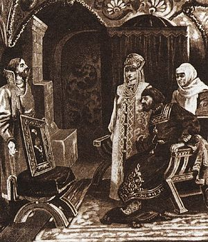 Sophia Palaiologina - Ivan Fryazin showed to Ivan III the portrait of Sophia Palaiologina, by Viktor Muizhel.