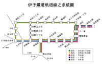 Iyo Railway Tram Route Map zh.png