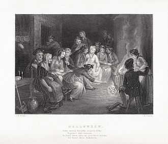 "Halloween - The word appears as the title of Robert Burns' ""Halloween"" (1785), a poem traditionally recited by Scots"