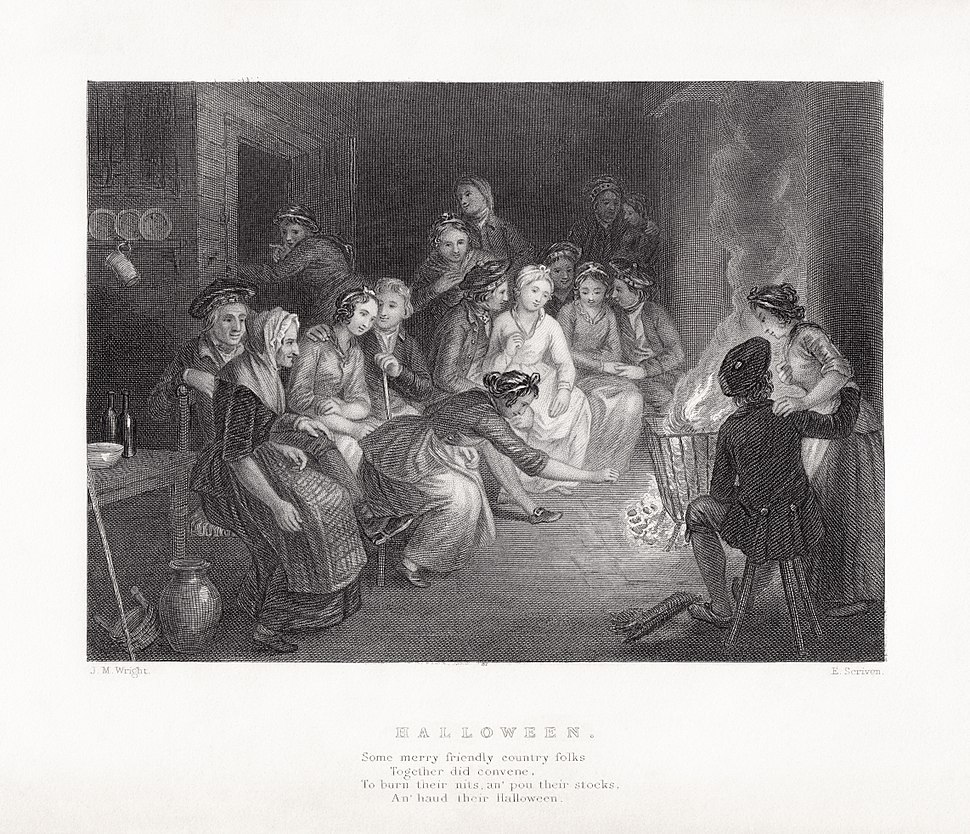 J. M. Wright - Edward Scriven - Robert Burns - Halloween