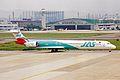 JA8069 MD-90-30 JAS Japan Air System NGO 20MAY03 (8409872037).jpg