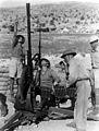 JEWISH VOLUNTEERS IN THE BRITISH ARMY TRAINING ON THE CARMEL RANGE NEAR HAIFA. חיילים יהודים בצבא הבריטי מתאמנים ברכס הכרמל, ליד חיפה.D550-015.jpg