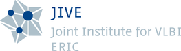 Full JIVE logo featuring a star and the text JIVE, Joint Institute for VLBI ERIC