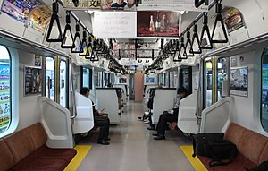 E531 series - Image: JR East E531 Interior Semicross
