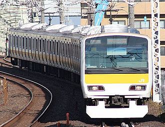 E231 series - Chuo-Sobu Line 10-car E231-500 series set A520 in December 2014