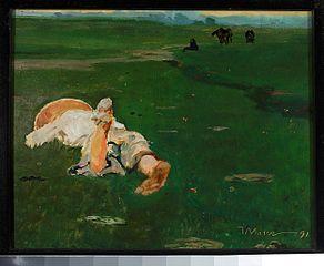 Pastuszka na łące