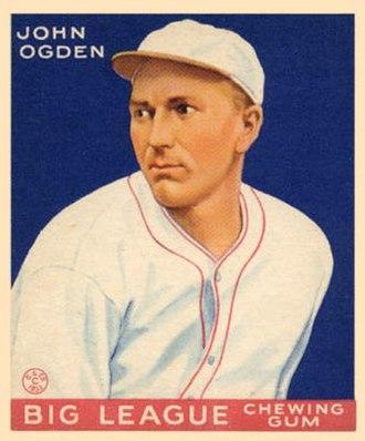 Jack Ogden - Jack Ogden 1933 Goudey baseball card