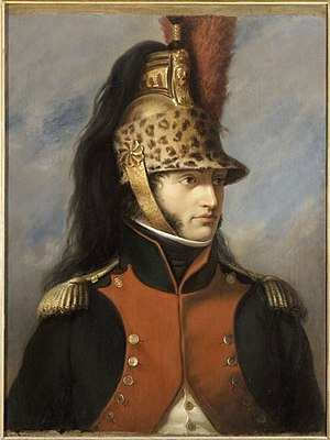 Horsehair - Louis Bonaparte wearing a dragoon helmet with mane