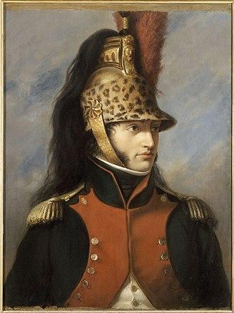 Horsehair - Louis Bonaparte wearing a dragoon helmet with mane