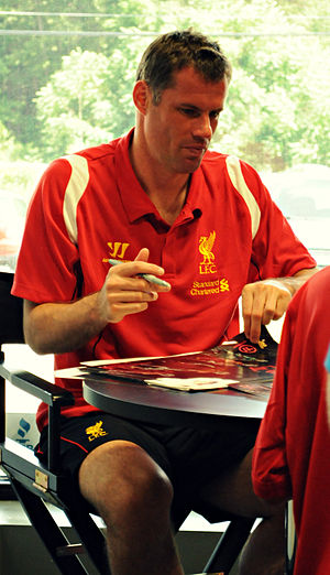 Jamie Carragher - Carragher in 2012.