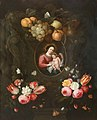 Jan Pauwel Gillemans (II) (Attr.) - Stone niche decorated with fruit and flowers with insects surrounding the Virgin and Child.jpg