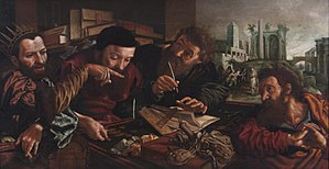 Parable of the Unforgiving Servant - This depiction by Jan van Hemessen (c. 1556) shows the moment when the king scolds the servant.