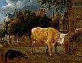 Jan van der Heyden and Adriaen van de Velde - Bull in a city street.jpg