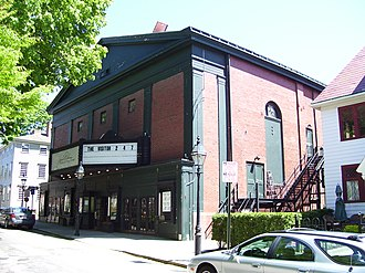 Newport International Film Festival - Jane Pickens Theater on Washington Square in Newport, built by Russell Warren. As of 2016, is Newport's only active movie theater