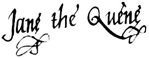 English: Signature of Lady Jane Grey acting as...