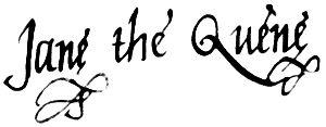 English: Signature of Lady Jane Grey acting as...