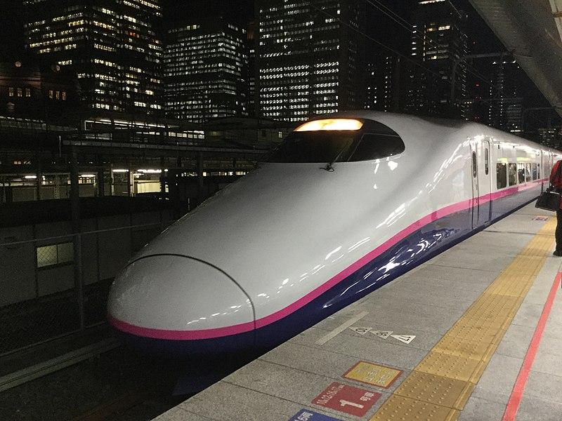 File:Japan Tohoku Shinkansen E2series at Tokyo station.jpg
