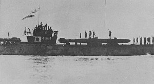 Ulithi - A Japanese submarine carrying kaiten to their deployment.