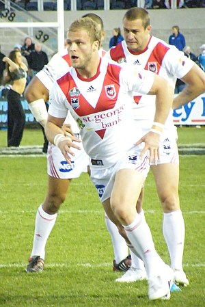 Jarrod Saffy - Saffy playing with the Dragons in 2008