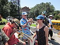 Jax Square BP Oil Disaster Protest 31 July Horns Warm.JPG