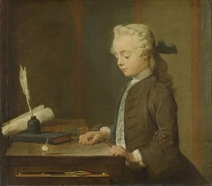 1735 in art - Chardin – Boy with a Top