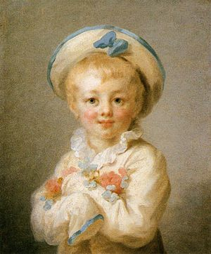 Pierrot - Jean-Honoré Fragonard: A Boy as Pierrot, between 1776 and 1780.  The Wallace Collection, London.