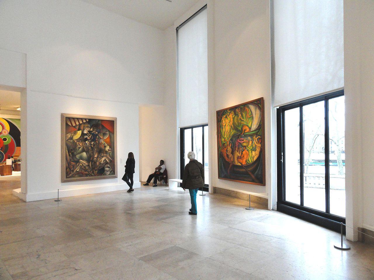File jean metzinger l 39 oiseau bleu left andr lhote right mus e d 39 art moderne de la ville - Musee d art moderne strasbourg ...