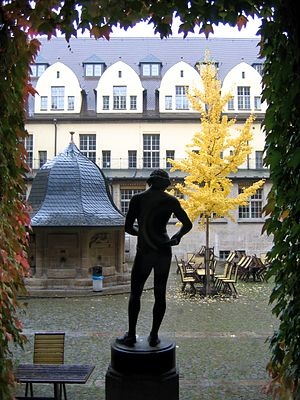 University of Jena - Inner courtyard with cafeteria of the Old University Building.