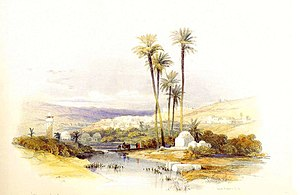 Jenin - Painting of Jenin by David Roberts, 1839