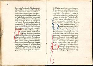 De viris illustribus - A copy of De viris illustribus printed by Nicolas Jenson about 1474