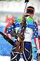 Jeremy Teela in biathlon - men's sprint at 2010 Winter Olympics 5.jpg