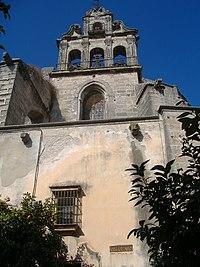 Detalle de la espadaña en la Iglesia de San Marcos de Jerez de la Frontera.