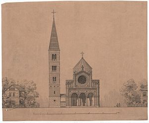 Jesus Church, Copenhagen - One of Dahlerup's renderings