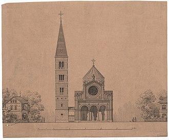 Jesus Church, Copenhagen - One of Dahlerup's renderings