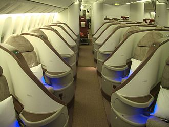 Jet Airways - Image: Jet Airways 777 Premiere cabin
