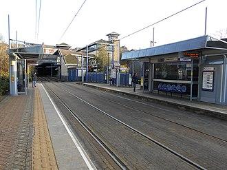 Jewellery Quarter station - Midland Metro platforms, looking towards Birmingham.