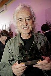 Jimmy Page at Mojo Awards 2008.