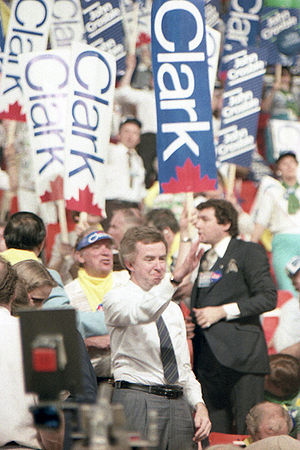 Joe Clark - Joe Clark on the floor of the 1983 leadership convention.