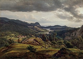 View of Lysekloster near Bergen
